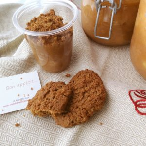 Compote crumble speculoos